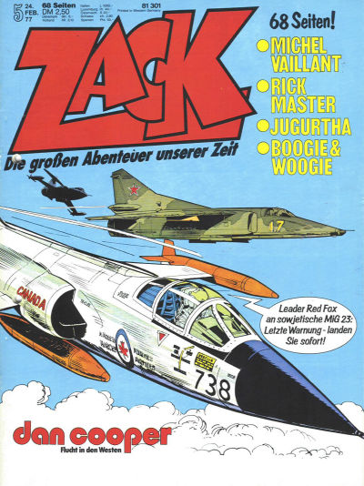 Cover for Zack (Koralle, 1972 series) #5/1977
