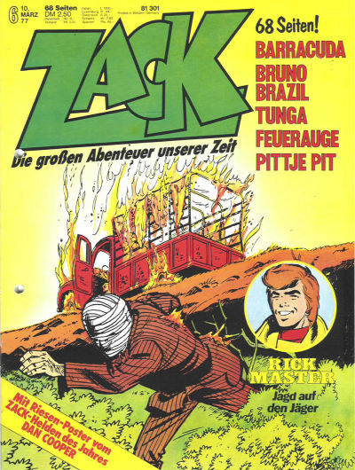 Cover for Zack (Koralle, 1972 series) #6/1977