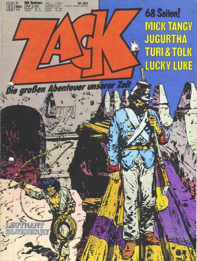 Cover for Zack (Koralle, 1972 series) #10/1977