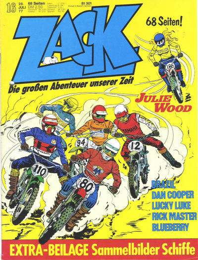 Cover for Zack (Koralle, 1972 series) #16/1977