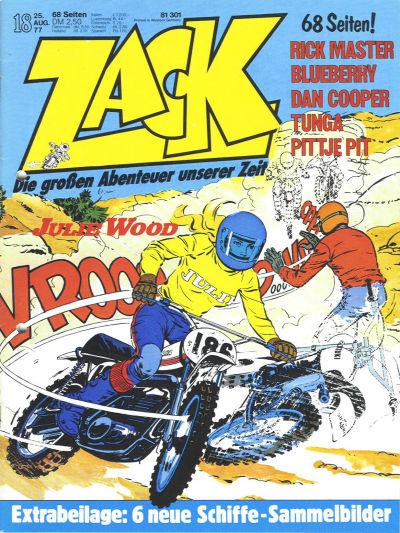Cover for Zack (Koralle, 1972 series) #18/1977