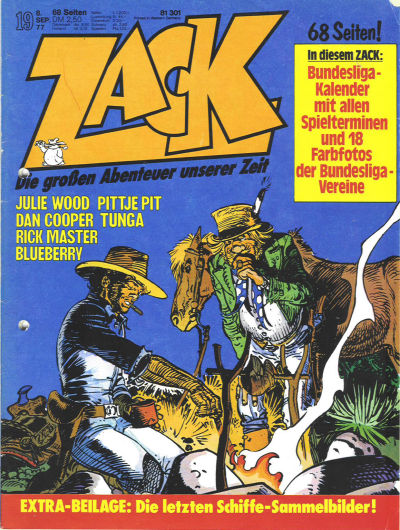 Cover for Zack (Koralle, 1972 series) #19/1977
