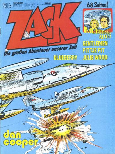 Cover for Zack (Koralle, 1972 series) #21/1977