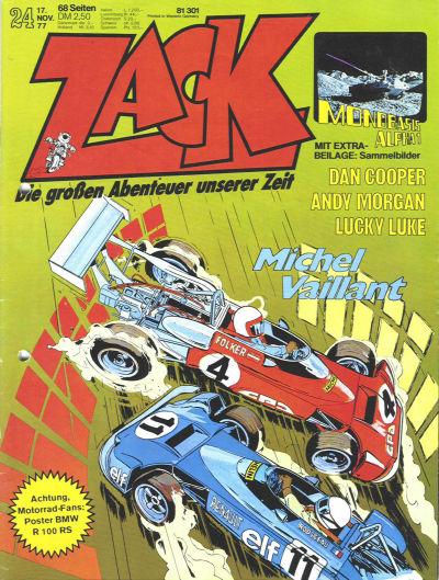 Cover for Zack (Koralle, 1972 series) #24/1977