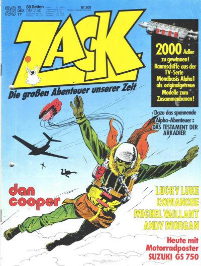 Cover for Zack (Koralle, 1972 series) #26/1977