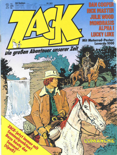 Cover for Zack (Koralle, 1972 series) #2/1978