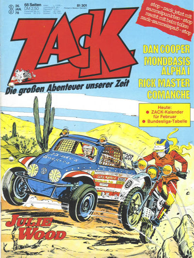 Cover for Zack (Koralle, 1972 series) #3/1978