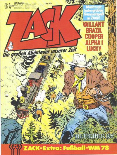 Cover for Zack (Koralle, 1972 series) #6/1978