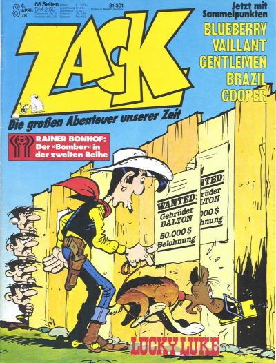Cover for Zack (Koralle, 1972 series) #8/1978