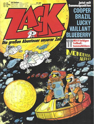 Cover for Zack (Koralle, 1972 series) #9/1978