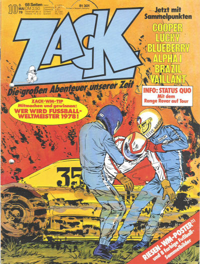 Cover for Zack (Koralle, 1972 series) #10/1978
