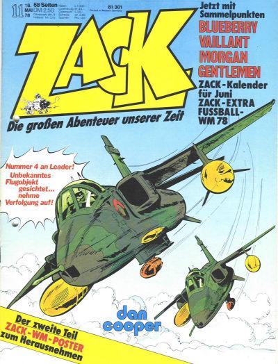 Cover for Zack (Koralle, 1972 series) #11/1978