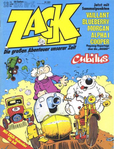 Cover for Zack (Koralle, 1972 series) #13/1978