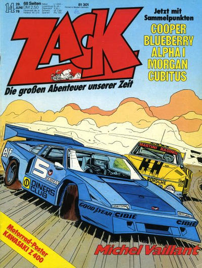 Cover for Zack (Koralle, 1972 series) #14/1978