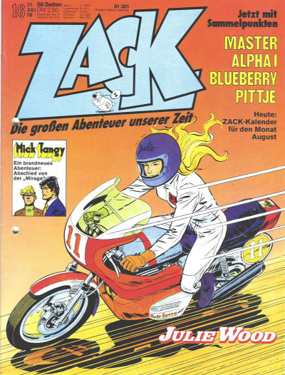 Cover for Zack (Koralle, 1972 series) #16/1978
