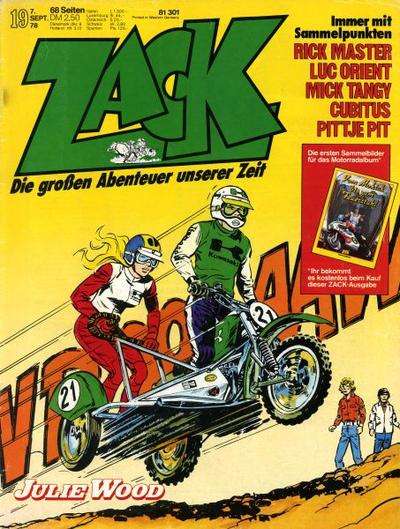 Cover for Zack (Koralle, 1972 series) #19/1978