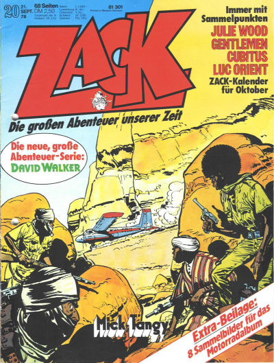 Cover for Zack (Koralle, 1972 series) #20/1978