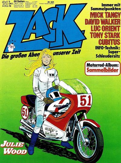 Cover for Zack (Koralle, 1972 series) #21/1978