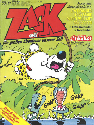 Cover for Zack (Koralle, 1972 series) #22/1978