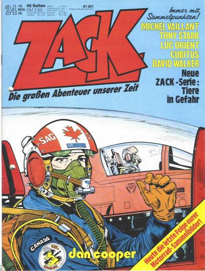 Cover for Zack (Koralle, 1972 series) #24/1978