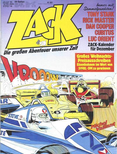 Cover for Zack (Koralle, 1972 series) #25/1978