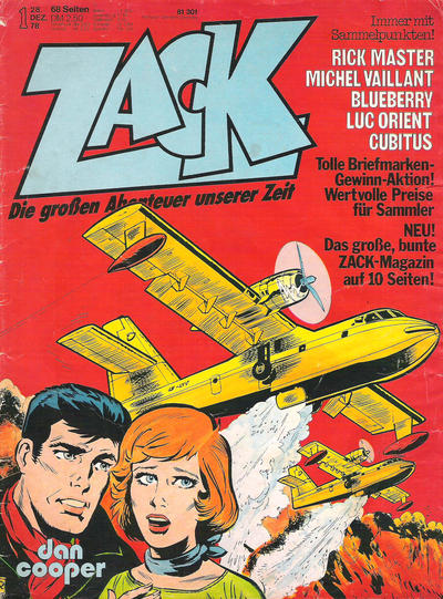 Cover for Zack (Koralle, 1972 series) #1/1979