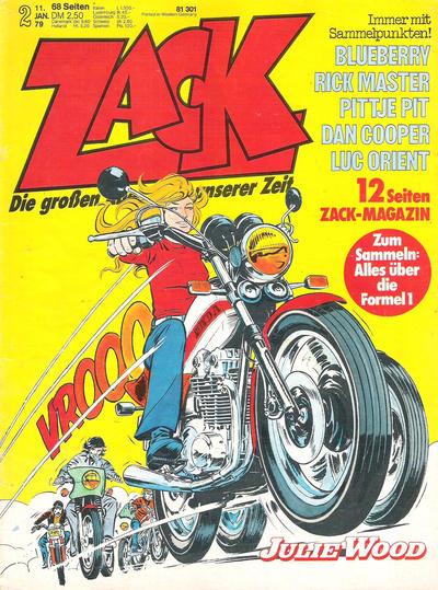 Cover for Zack (Koralle, 1972 series) #2/1979