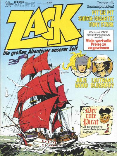 Cover for Zack (Koralle, 1972 series) #6/1979