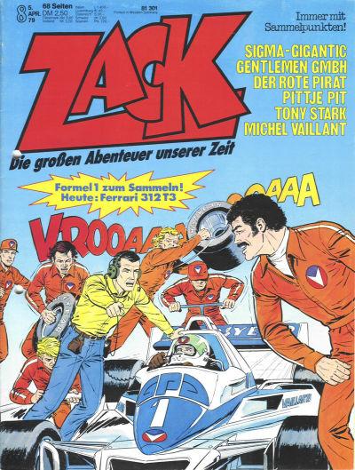 Cover for Zack (Koralle, 1972 series) #8/1979