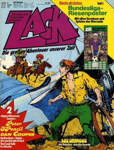 Cover for Zack (Koralle, 1972 series) #17/1979