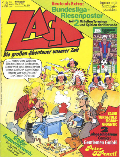 Cover for Zack (Koralle, 1972 series) #18/1979