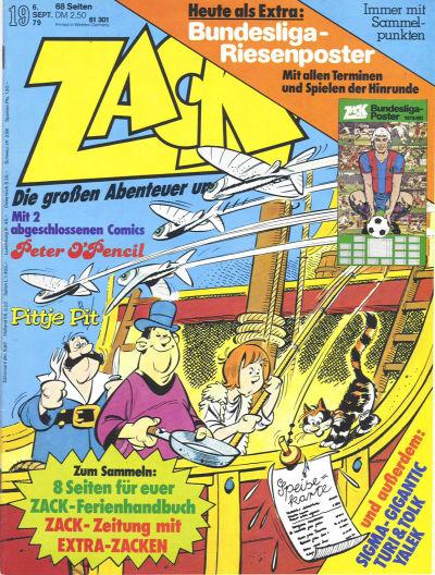 Cover for Zack (Koralle, 1972 series) #19/1979