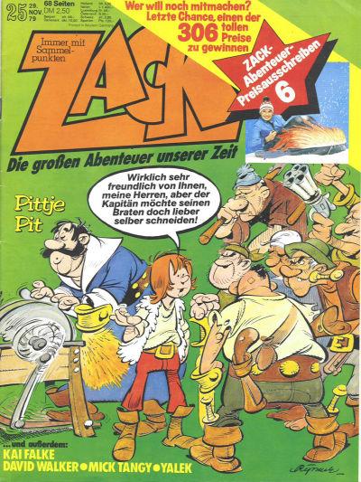 Cover for Zack (Koralle, 1972 series) #25/1979