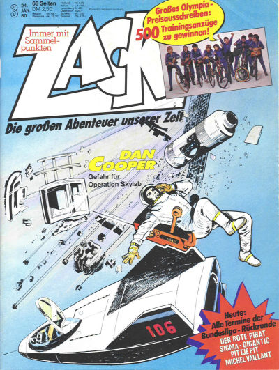 Cover for Zack (Koralle, 1972 series) #3/1980
