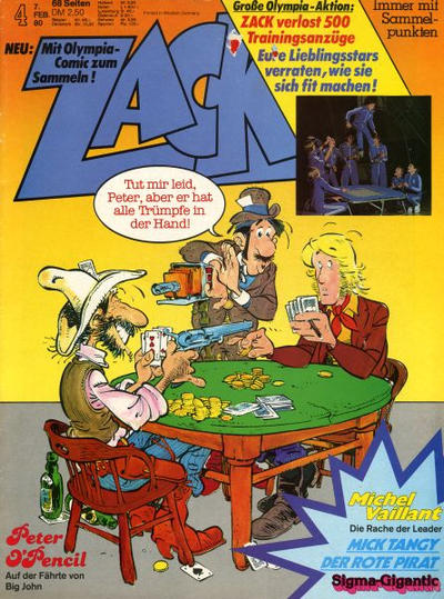Cover for Zack (Koralle, 1972 series) #4/1980