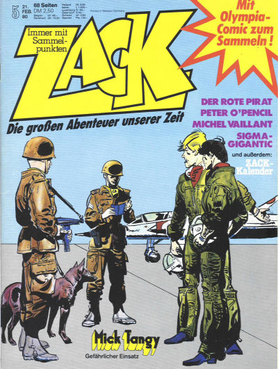 Cover for Zack (Koralle, 1972 series) #5/1980
