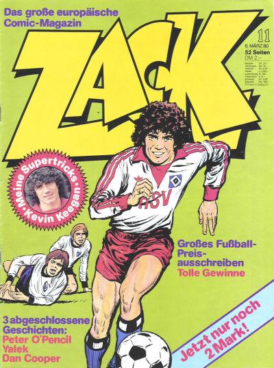 Cover for Zack (Koralle, 1972 series) #11/1980