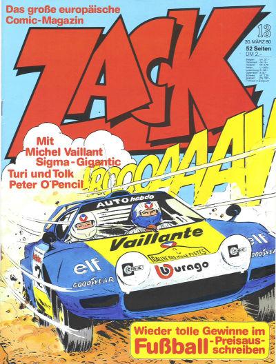 Cover for Zack (Koralle, 1972 series) #13/1980