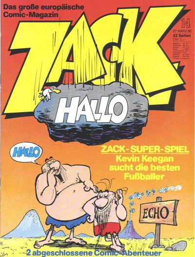 Cover for Zack (Koralle, 1972 series) #14/1980