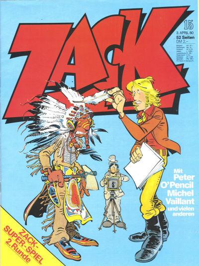 Cover for Zack (Koralle, 1972 series) #15/1980