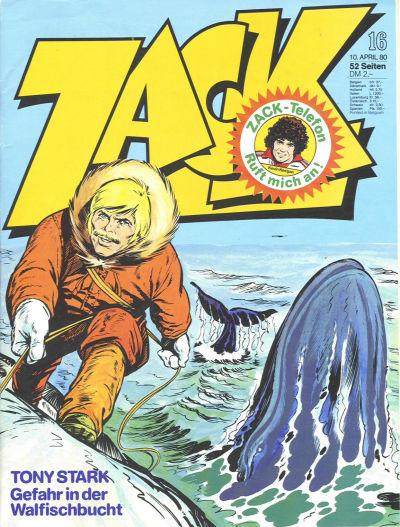 Cover for Zack (Koralle, 1972 series) #16/1980