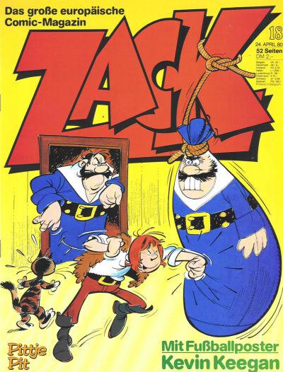 Cover for Zack (Koralle, 1972 series) #18/1980