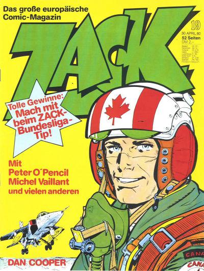Cover for Zack (Koralle, 1972 series) #19/1980