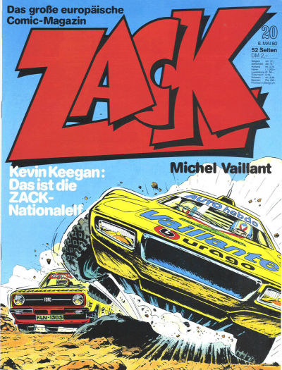 Cover for Zack (Koralle, 1972 series) #20/1980