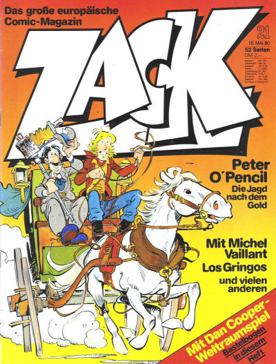 Cover for Zack (Koralle, 1972 series) #21/1980