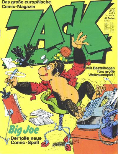 Cover for Zack (Koralle, 1972 series) #22/1980