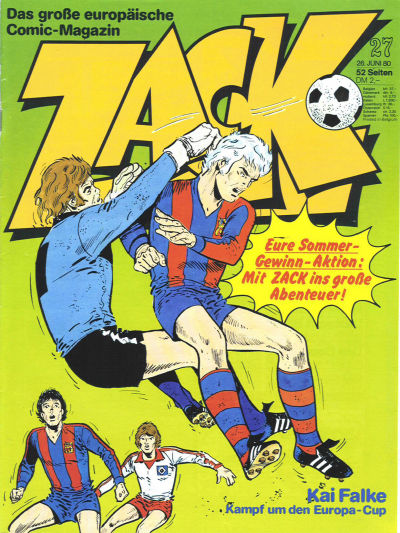 Cover for Zack (Koralle, 1972 series) #27/1980