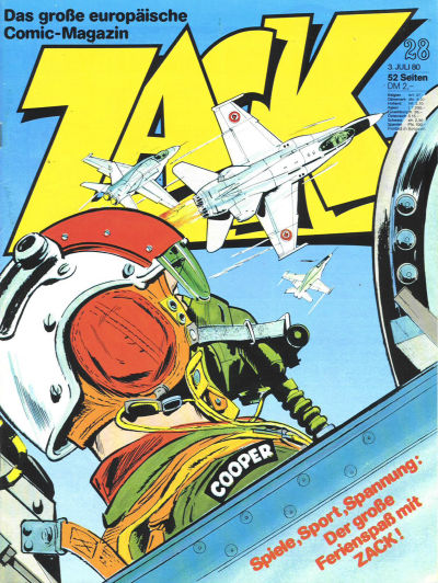 Cover for Zack (Koralle, 1972 series) #28/1980