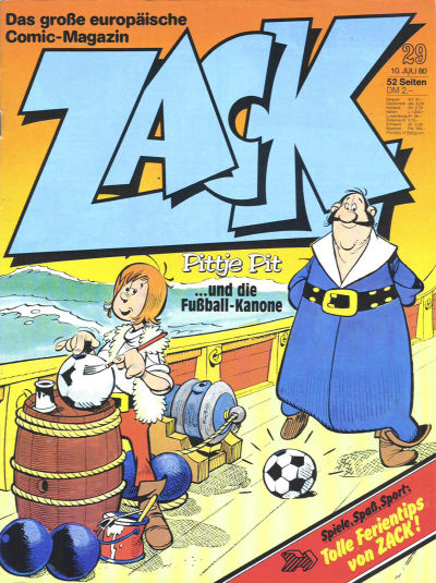 Cover for Zack (Koralle, 1972 series) #29/1980