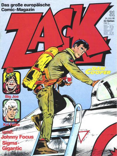 Cover for Zack (Koralle, 1972 series) #31/1980